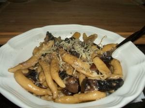 homemade mushroom pasta
